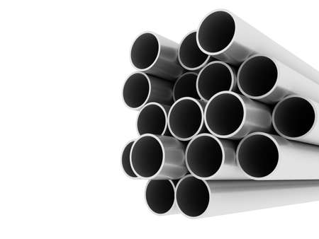 metal pipe: Metal tube - industrial background