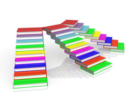 The stairs of the books, 3D photo