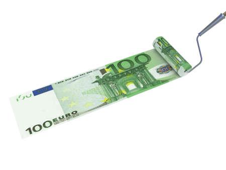 Roller brush, dollar, 3D Stock Photo - 11966124
