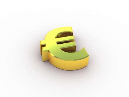 3d euro gold Stock Photo - 11966093