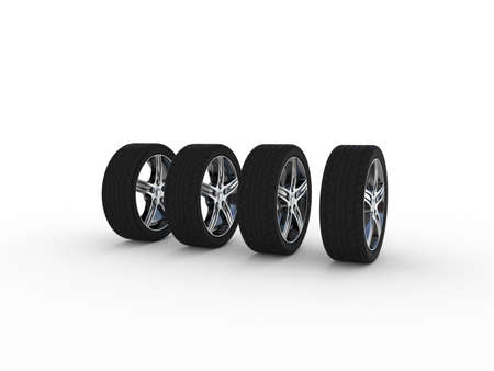 Wheels set, 3D photo