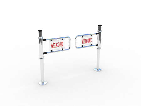 turnstile: Turnstile on white background, 3D