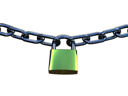 Chain and lock, 3D Stock Photo - 11965980