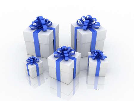 Gift white box, 3D