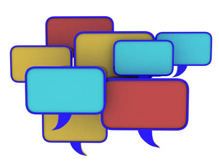 Speech bubbles set, 3D photo