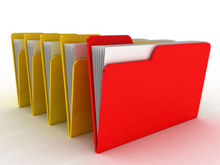 Color  folder. File 3D. Icon isolated on white background Stock Photo - 11966164