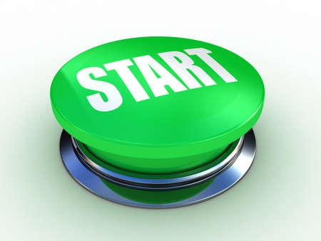 3d button start green push technology press Stock Photo - 12115592