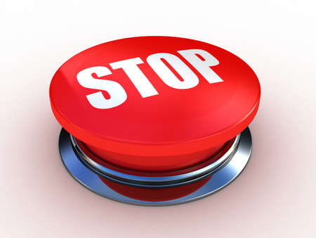 3d button  red  push technology press Stock Photo