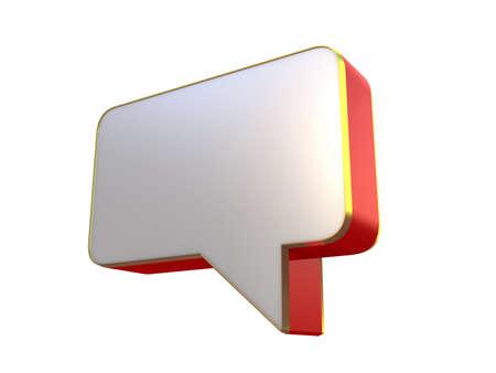Speech bubbles set, 3D images Stock Photo - 12115540