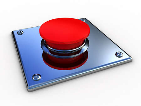 3d button  red  push technology press photo