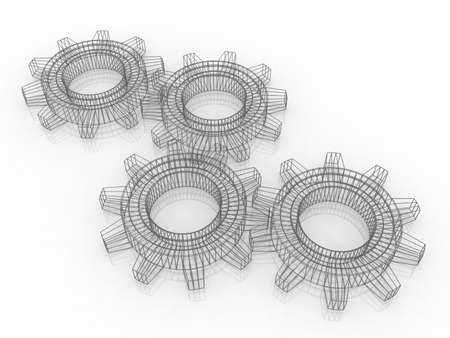 toothed: Three-dimensional  toothed wheels