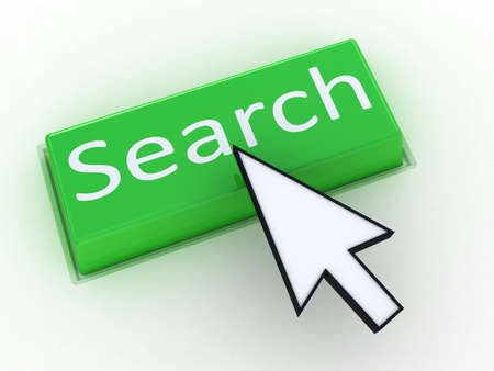 Green button SEARCH with arrow cursor. Computer generated image. photo