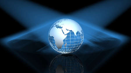 africa continent: Globe on black background, 3D images Stock Photo