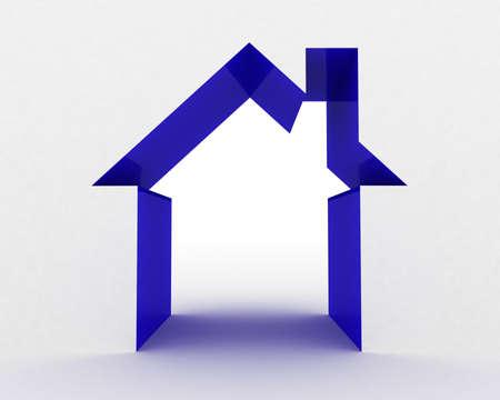 investment real state: Resumen casa en el fondo blanco, la imagen 3D