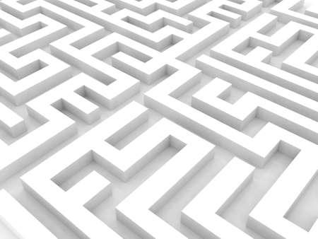 Labyrinth 3D white