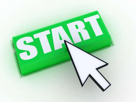3d button start green push technology press Stock Photo - 12862662