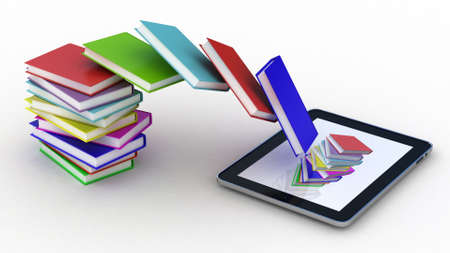 Books fly into your tablet, 3D images