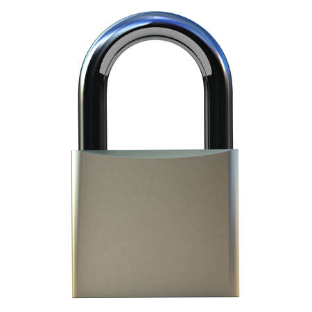 Padlock isolated on white, 3D images Stock Photo - 12996438