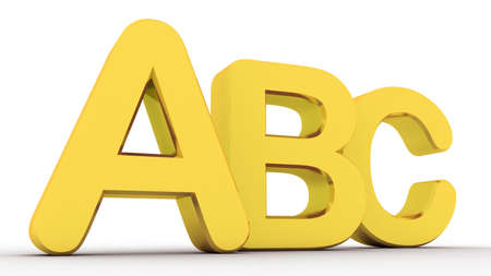 Alphabet  with letters A,B,C photo