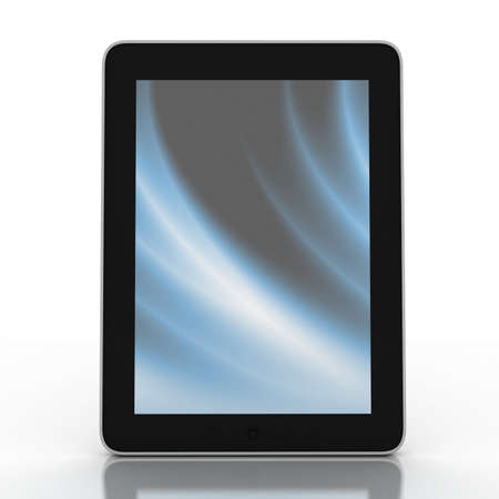 3D black tablet pc on white background, 3D images Stock Photo - 14252709