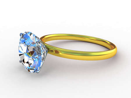 3d rendering of a diamond ring photo
