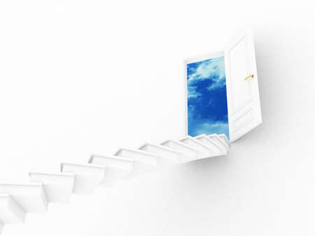 Stairway to the sky, 3D images photo