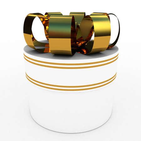 Gift  white box, 3D images photo
