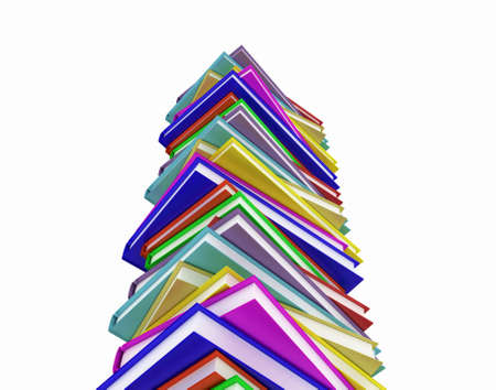The stairs of the books, 3D images photo