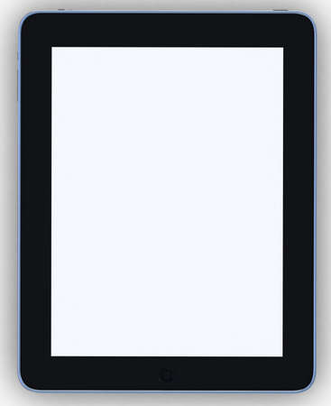 3D black tablet pc on white background Stock Photo - 16448924