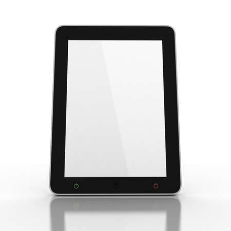 3D black tablet pc on white background Stock Photo - 16448899