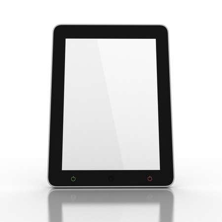 3D black tablet pc on white background Stock Photo - 16448899