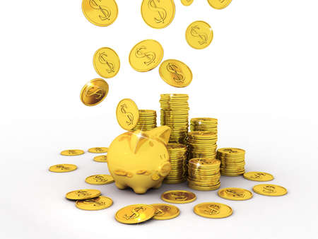 Piggy Bank, 3D images photo