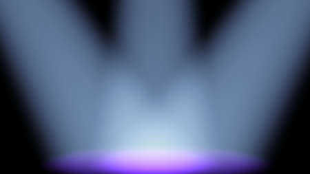 concert lighting against a dark background ilustration Stock Photo