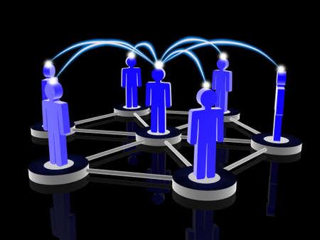 Social network concept Stock Photo - 16517998