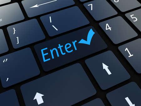 Keyboard enter key photo