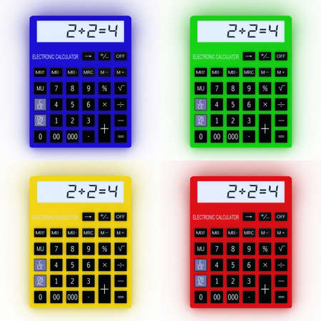 Color calculator 3D  Mathematics object  Isolated on white background Stock Photo - 16948541