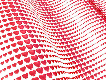 White background with hearts Stock Photo - 17234510