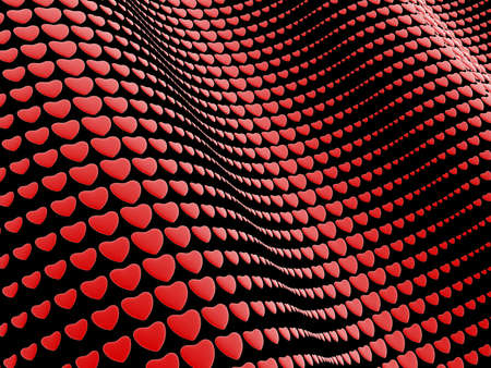 Black background with hearts Stock Photo - 17234509