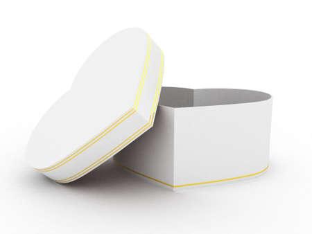 Gift open white box on white background, 3D image Stock Photo - 17234430