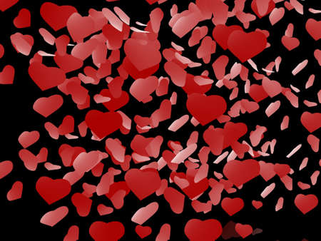Black background with hearts Stock Photo - 17234498