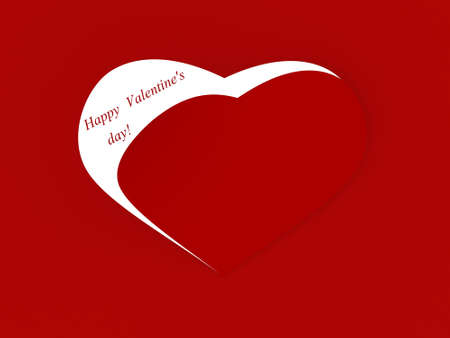 Red background with hearts Stock Photo - 17234432