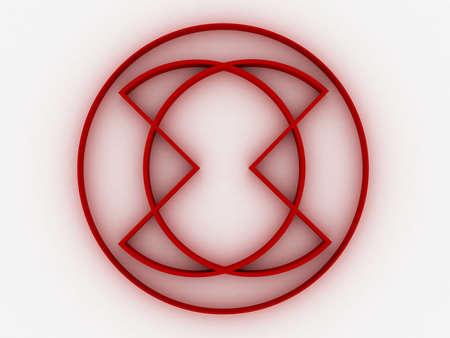 Abstract modern 3d emblem. Stock Photo - 17234438