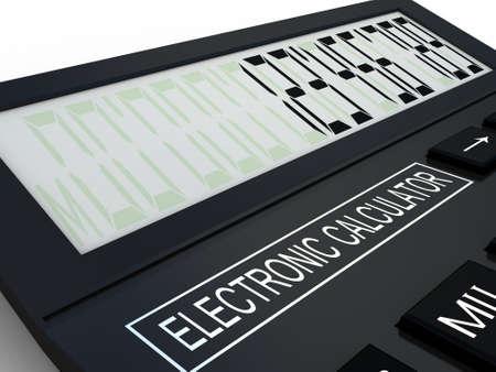 Black calculator 3D. Mathematics object. Isolated on white background Stock Photo - 17234506