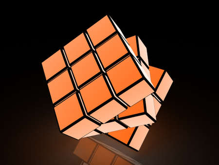 cube with light images on a black background Stock Photo - 17234473