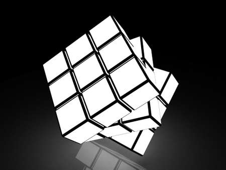 cube with light images on a black background Stock Photo - 17234455