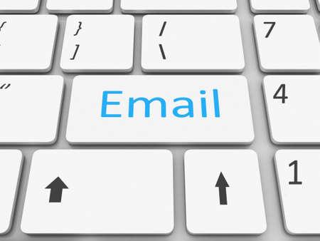 Keyboard email  key Stock Photo - 17652112