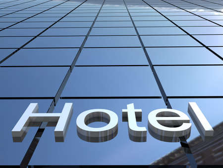 hotel icon: Hotel building, 3D images