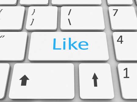 Keyboard like  key Stock Photo - 17652110