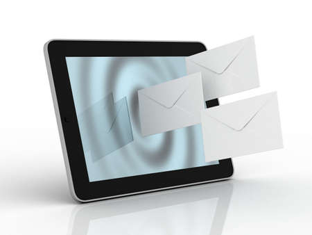 Tablet and fly envelopes photo