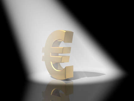 3d euro gold Stock Photo - 17652008